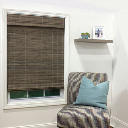 Radiance Dockside Cordless Light-Filtering Roman Shade, One Size , Brown