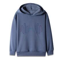 Sweatshirt mit Grafik Muster und Kapuze