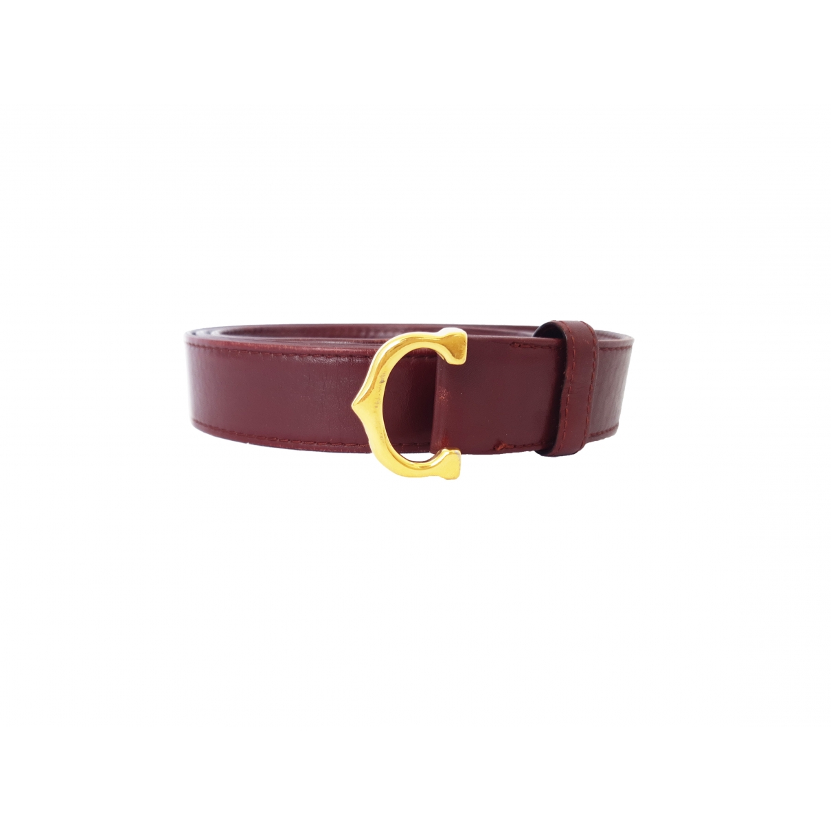 Cartier \N Burgundy Leather belt for Women 95 cm