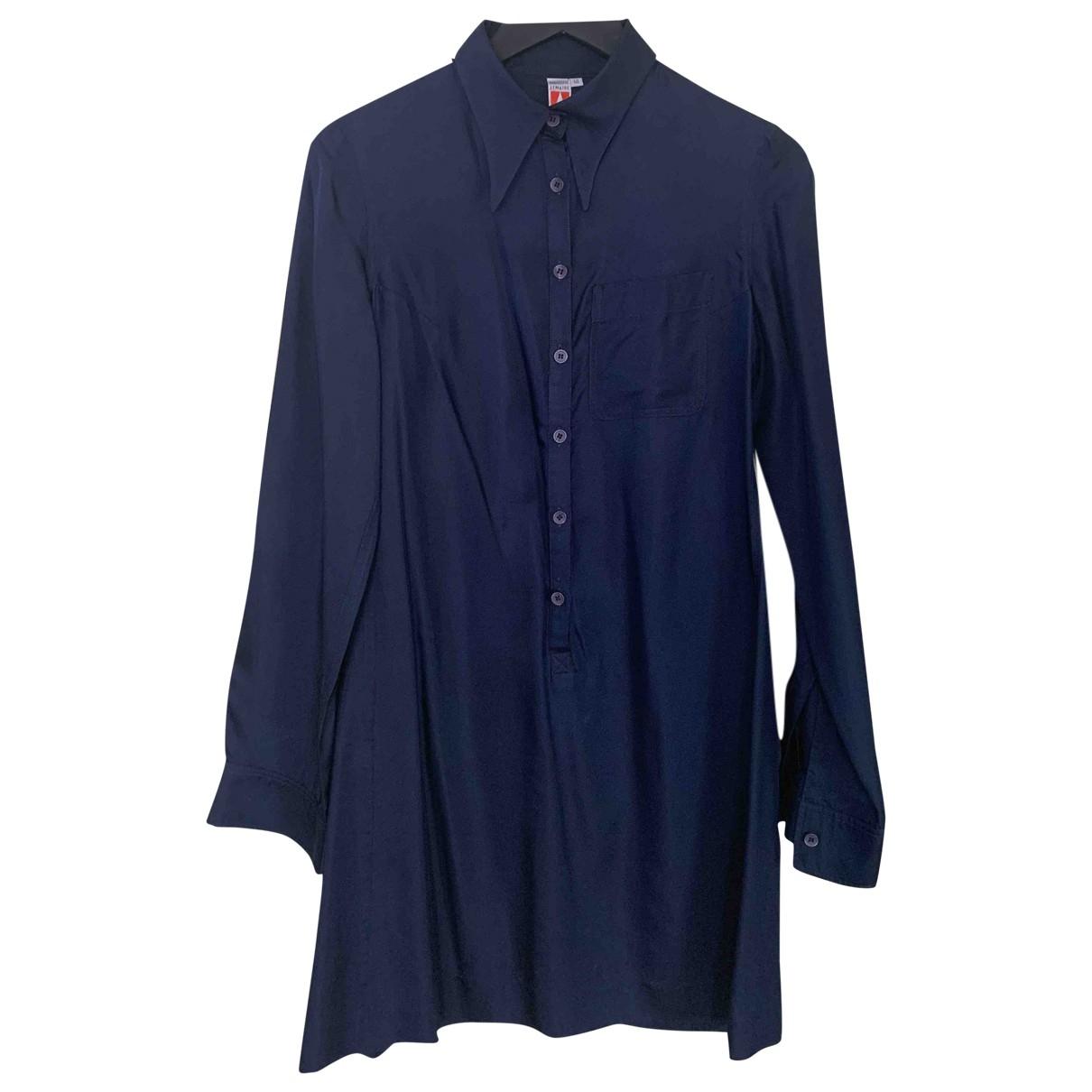 Lemaire - Robe   pour femme en soie - bleu