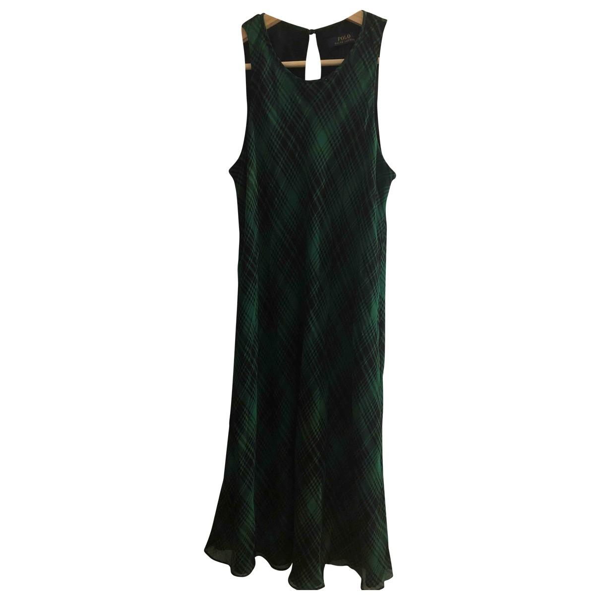Vestido midi de Seda Polo Ralph Lauren