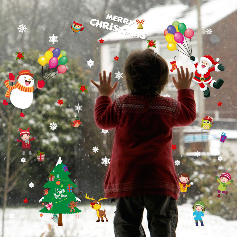 Miico SK9244 Merry Christmas Window Wall Sticker Removable For Christmas Decoration