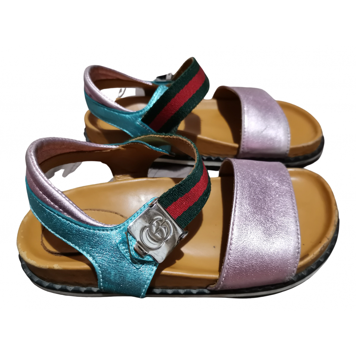 Gucci N Leather Sandals for Kids 17 FR