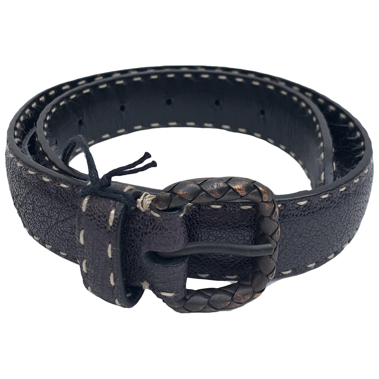 Bottega Veneta N Brown Leather belt for Women XXS International