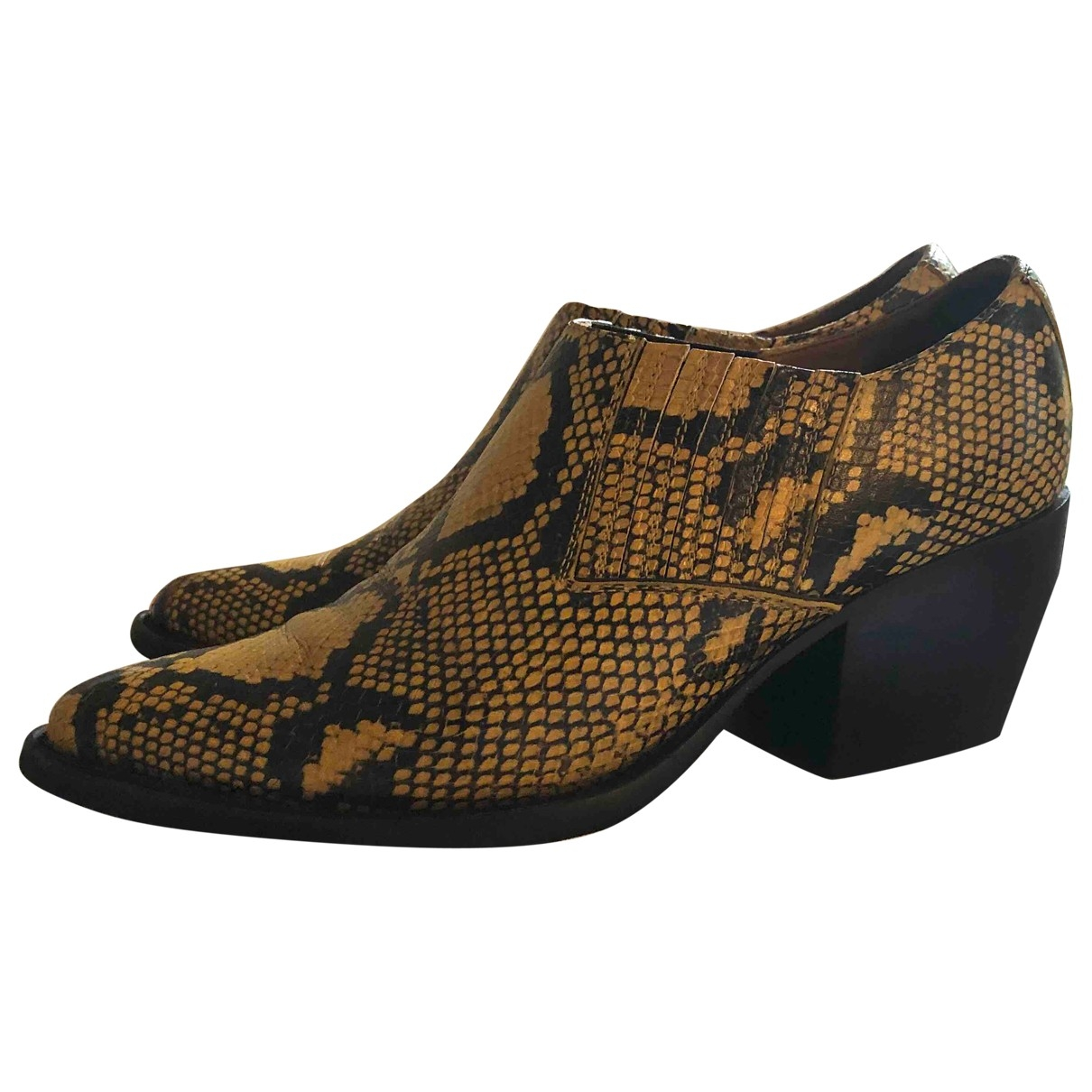 Chloé Rylee Yellow Water snake Ankle boots for Women 39 EU
