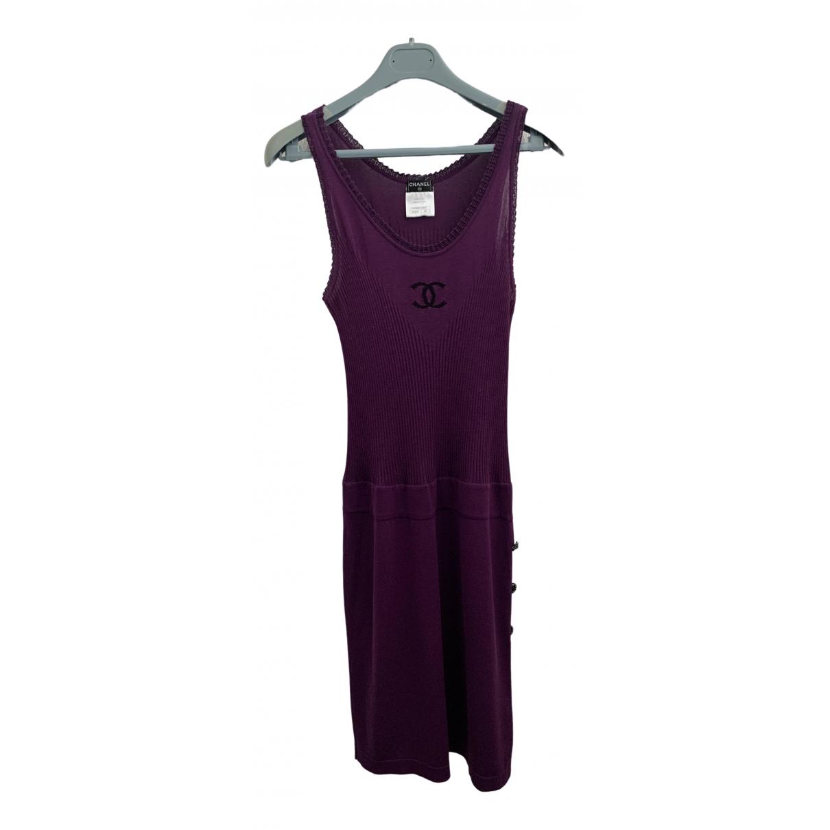 Chanel - Robe   pour femme en coton - violet