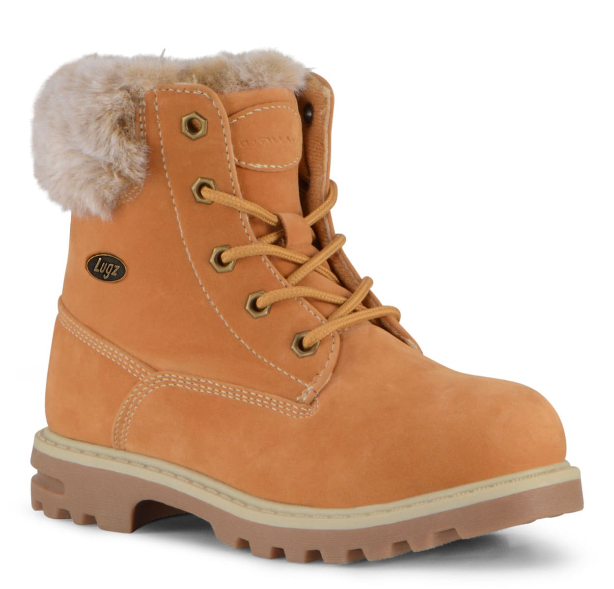 Preschool Empire Hi Fur 6-Inch Boot (Choose Your Color: Golden Wheat/Cream/Gum, Choose Your Size: 1.0)