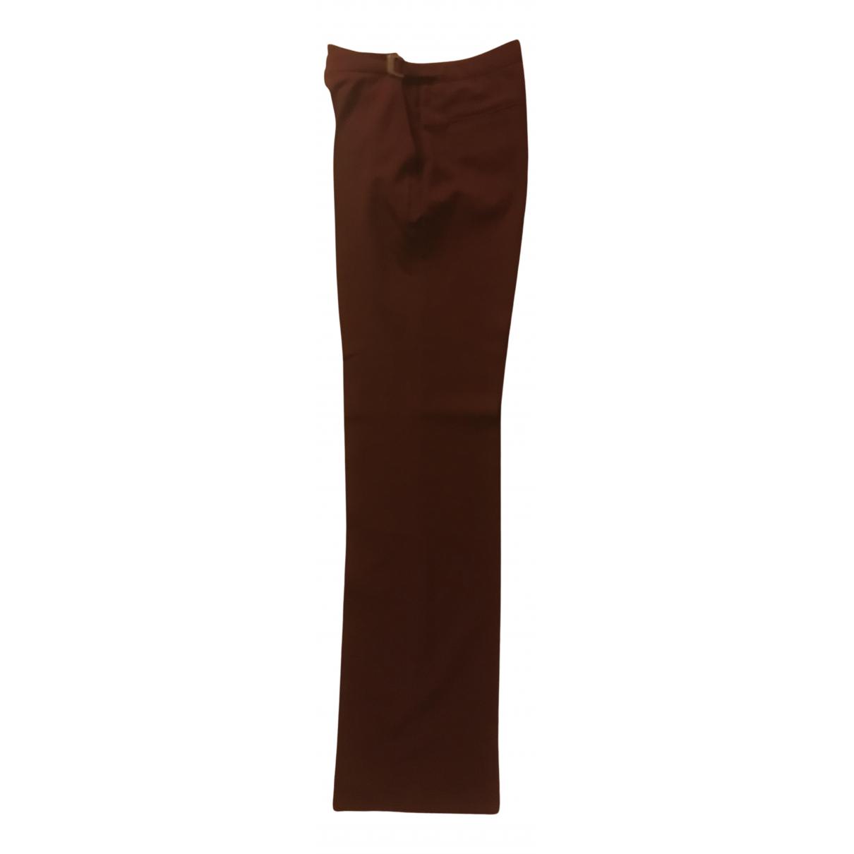 Véronique Branquinho N Burgundy Wool Trousers for Women 40 IT