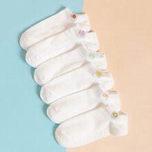 6 Paare Socken mit Obst Muster