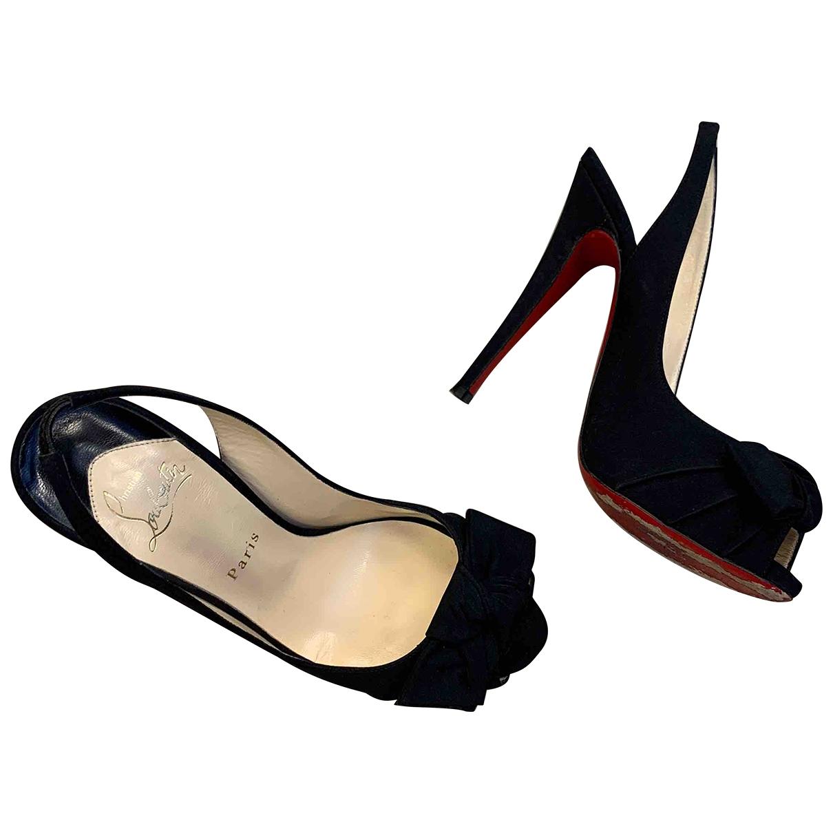 Christian Louboutin \N Black Cloth Heels for Women 38 EU
