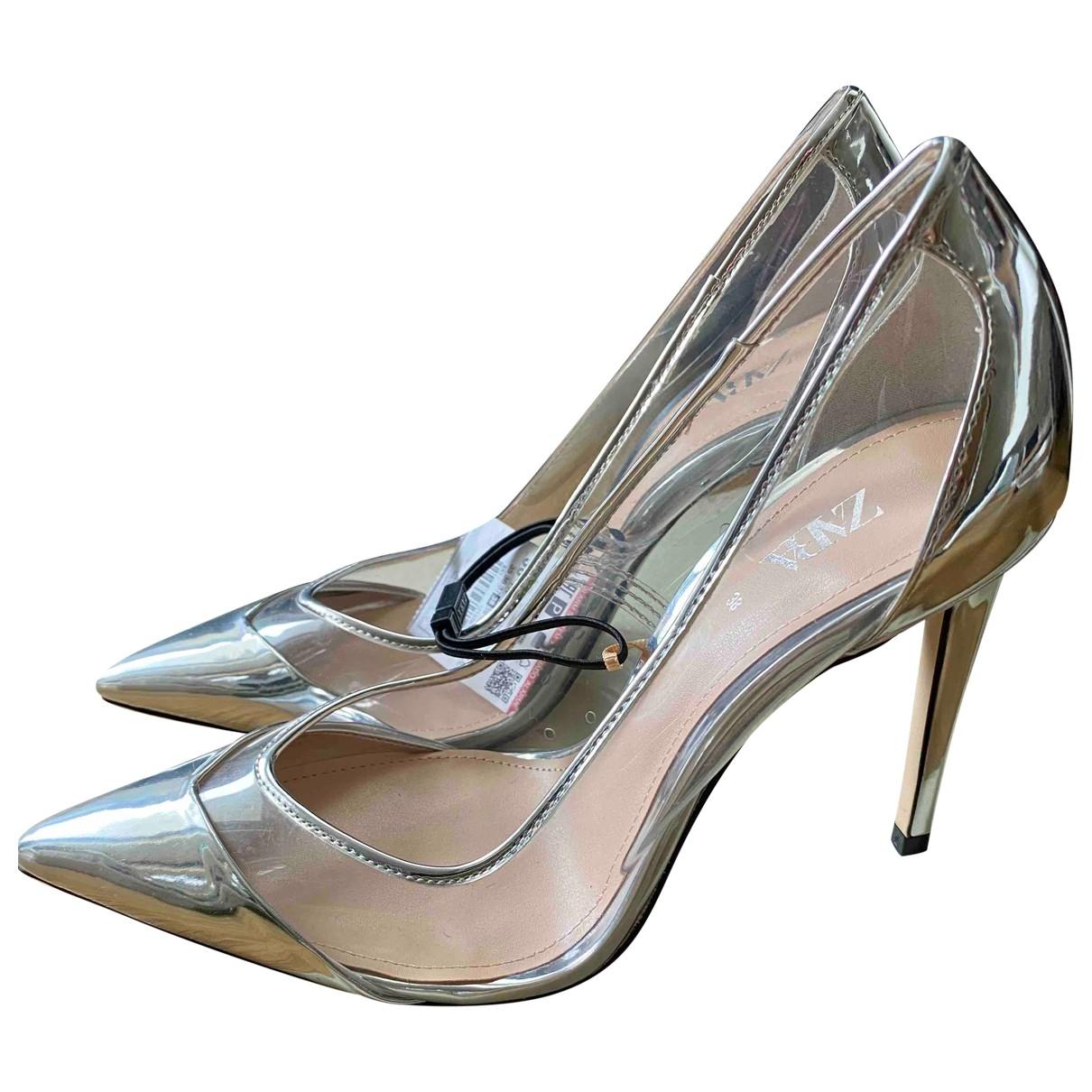 Zara - Escarpins   pour femme - metallise