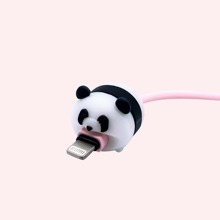 1pc Cartoon Panda Shaped Data Line Protection Cover