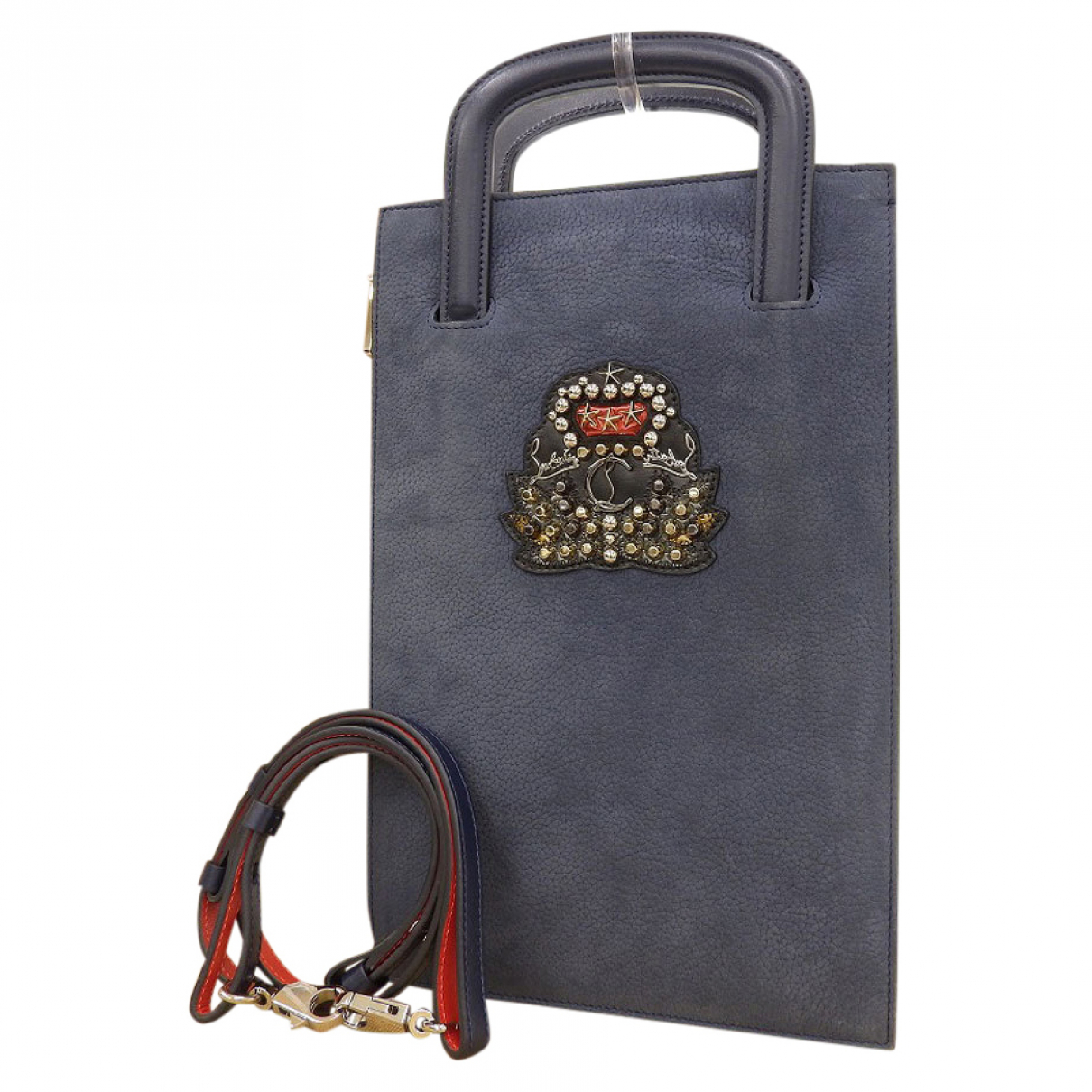 Christian Louboutin \N Blue Leather handbag for Women \N