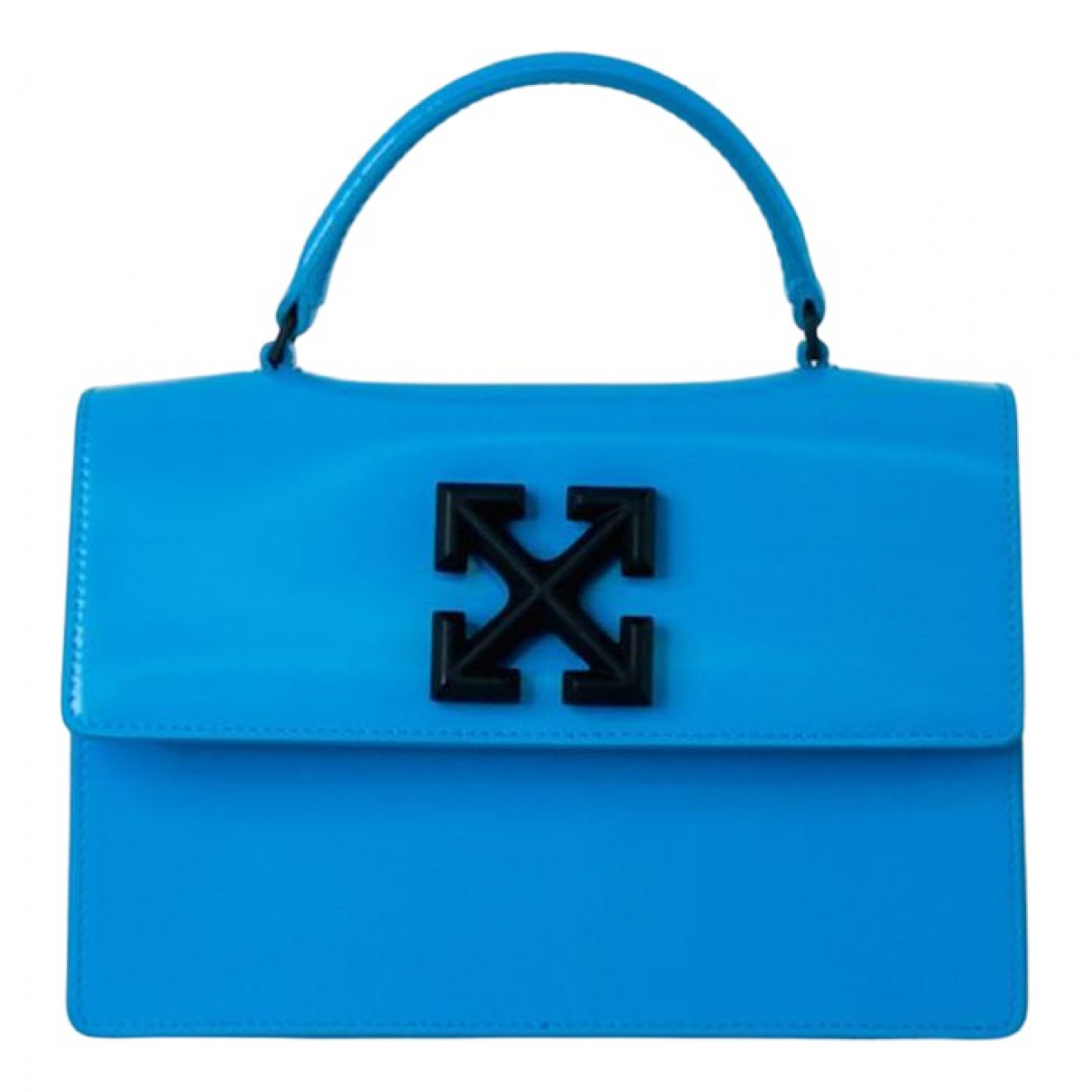 Off-white \N Handtasche in  Blau Leder