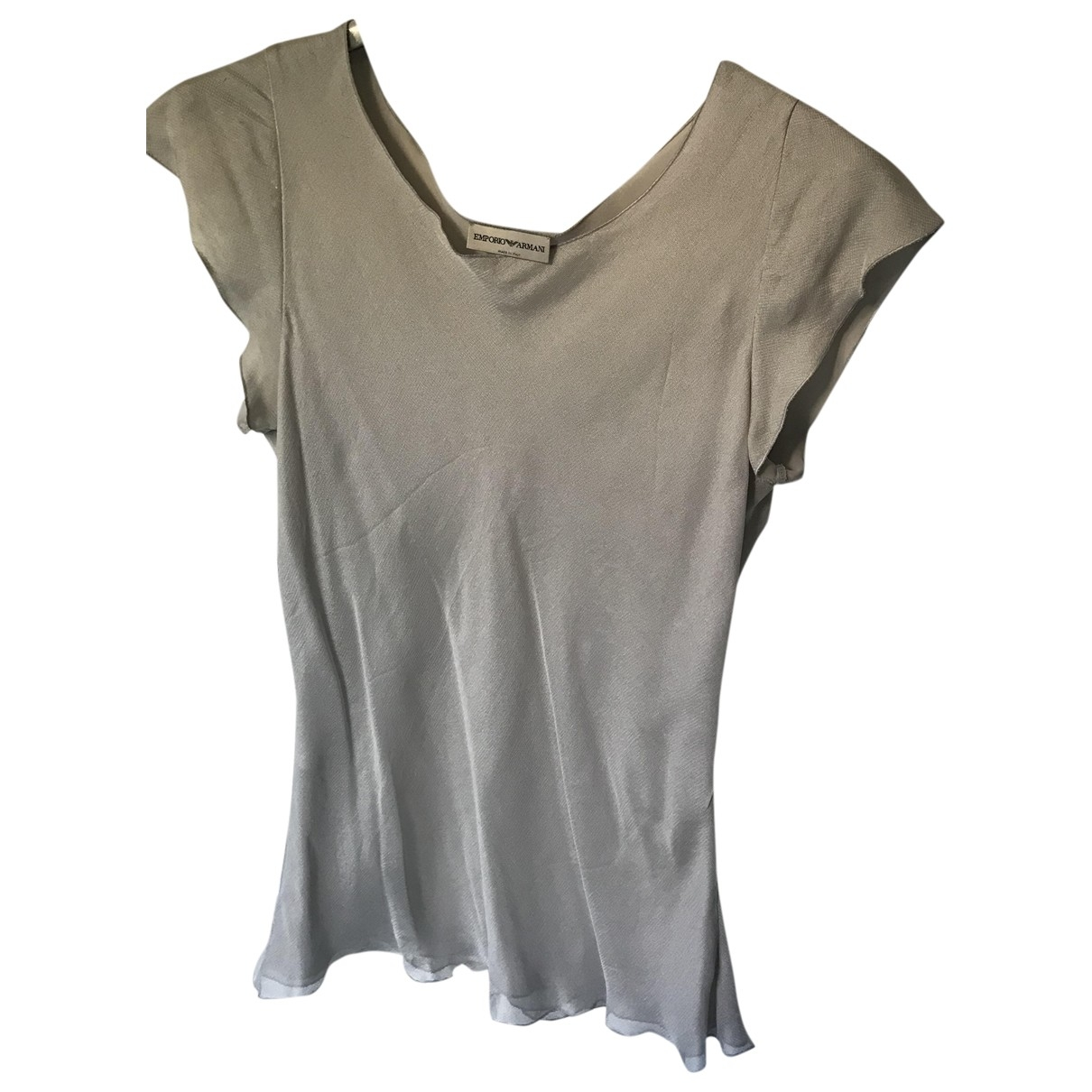 Emporio Armani \N Grey Silk  top for Women 40 IT