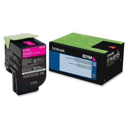 Lexmark 801M 80C10M0 Original Magenta Return Program Toner Cartridge