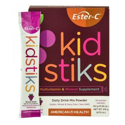 Ester-C Kidstiks Multivitamin & Mineral Groovy Grape 30 Packets by Ester-C