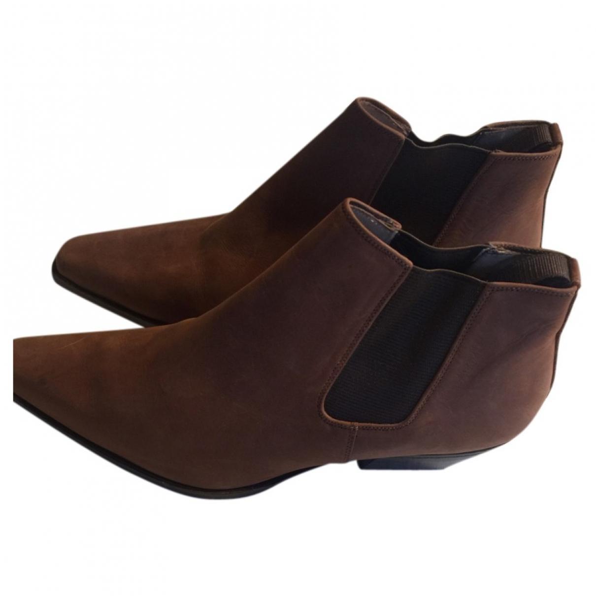 Sartore - Boots   pour femme en suede - camel