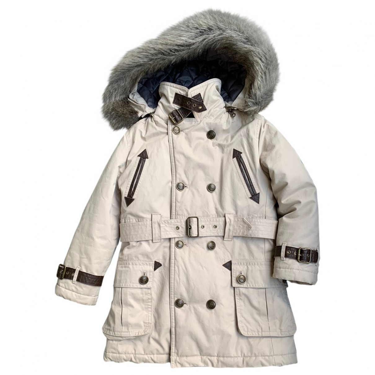 Burberry - Blousons.Manteaux   pour enfant en fourrure - beige