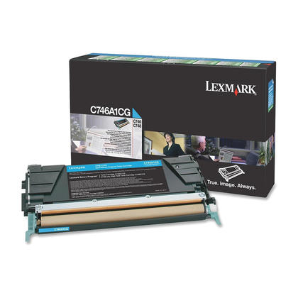 Lexmark C746A1CG Original Cyan Return Program Toner Cartridge