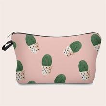 Cactus Print Makeup Bag