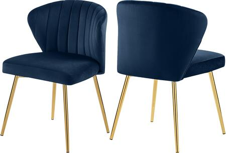 707NAVY Set of two Chairs Finley Navy Velvet Dining