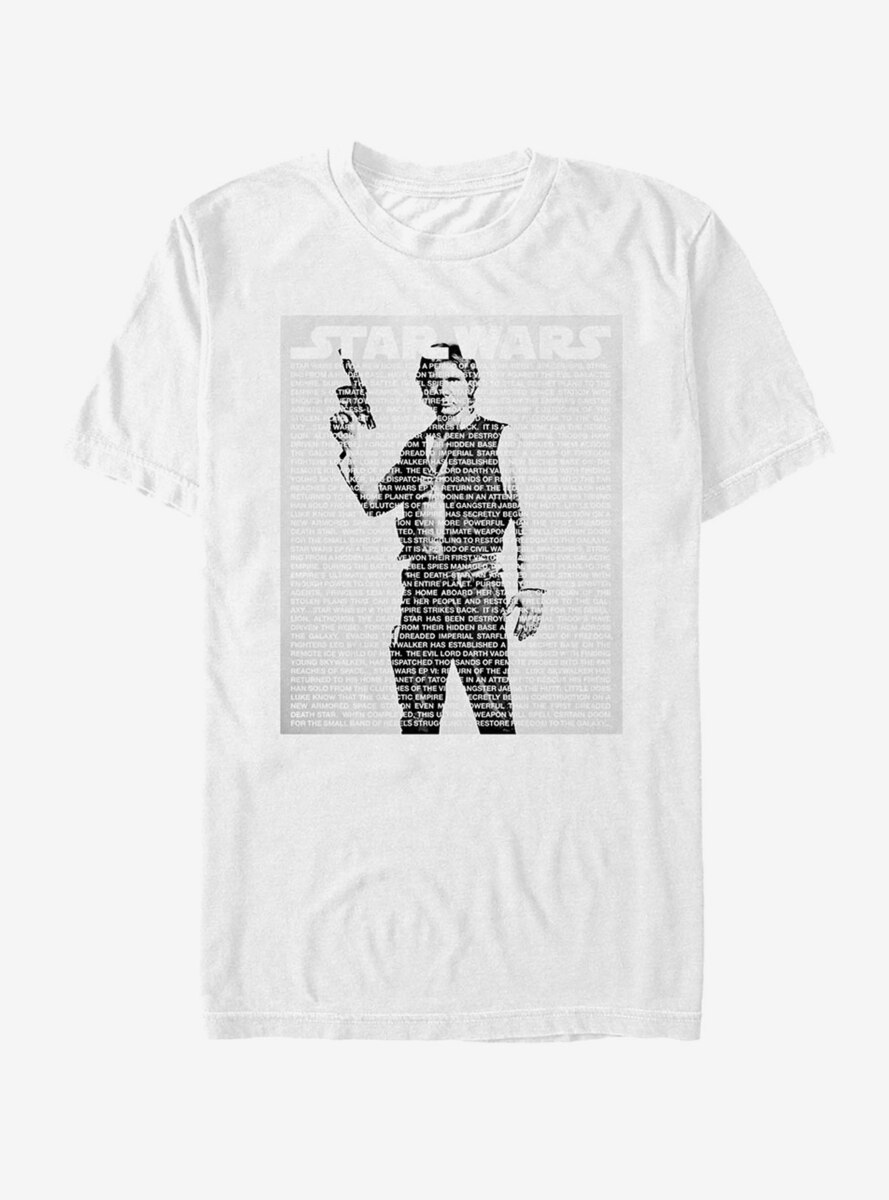Star Wars Han Solo Intro Script T-Shirt