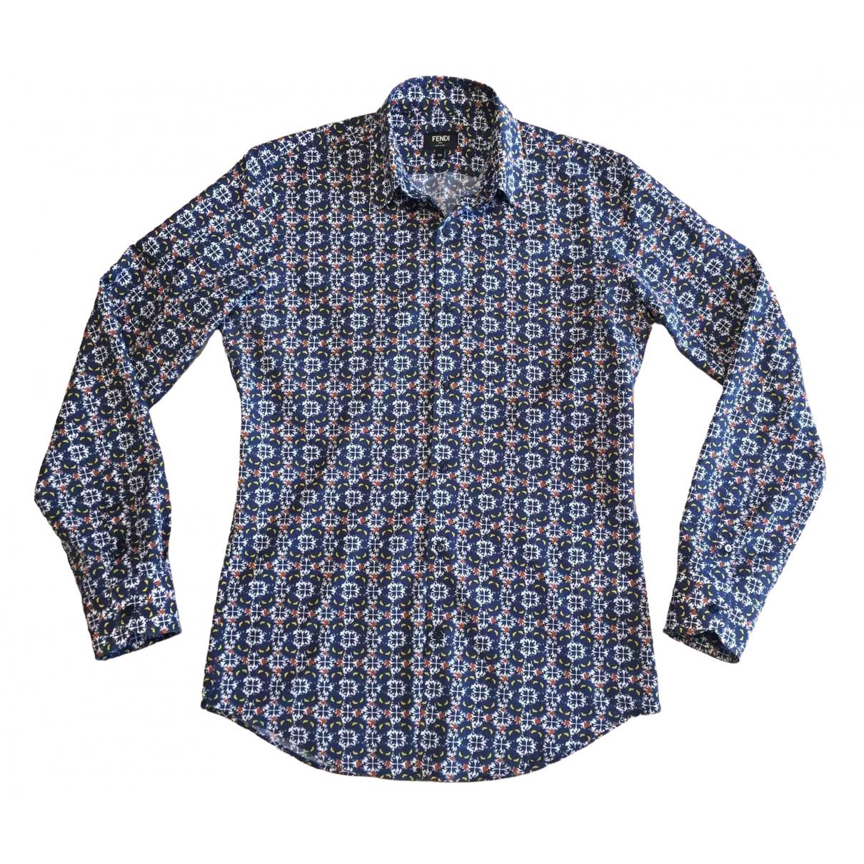 Fendi \N Blue Cotton Shirts for Men S International