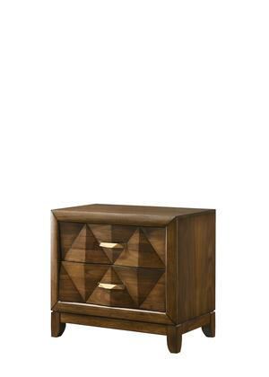 BM204571 Transitional 2 Drawer Wooden Nightstand with Chamfered Legs
