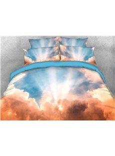 Cloud Sky Printed 4-Piece 3D Bedding Sets/Duvet Covers