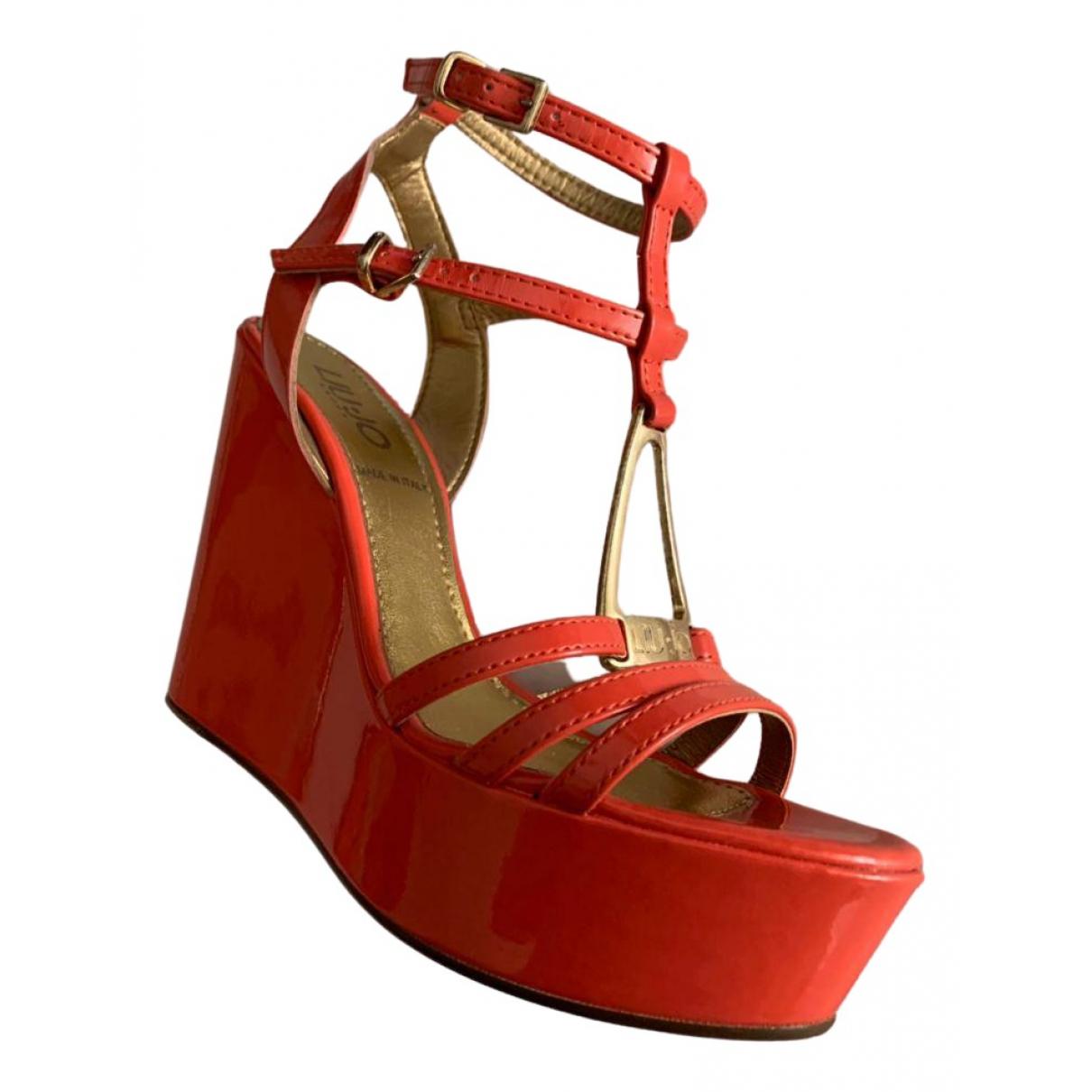 Liu.jo \N Sandalen in  Rot Lackleder
