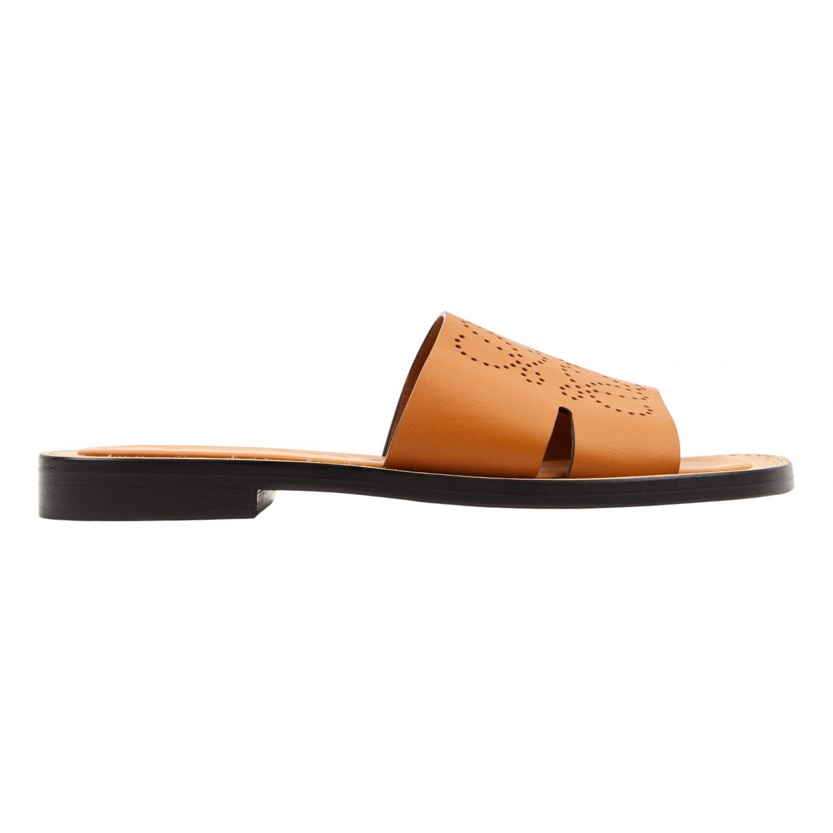 Sandalias romanas de Cuero Loewe