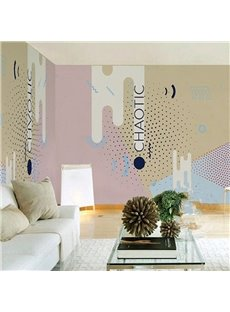 3D Chaotic Pattern PVC Sturdy Waterproof Eco-friendly Self-Adhesive Wall Mural