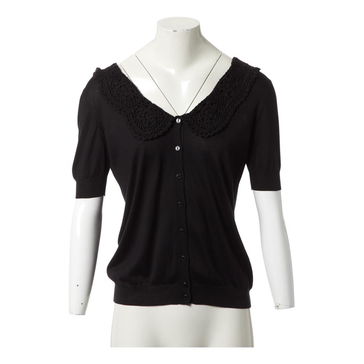Dolce & Gabbana N Black Silk Knitwear for Women 42 IT