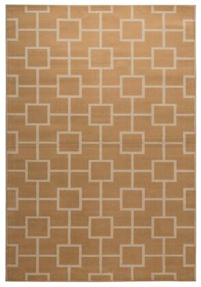 MGTMG4781GL006796 Millington  MG4781-67 x 96 Power Loomed  100% Polypropylene Rug in Gold  Rectangle