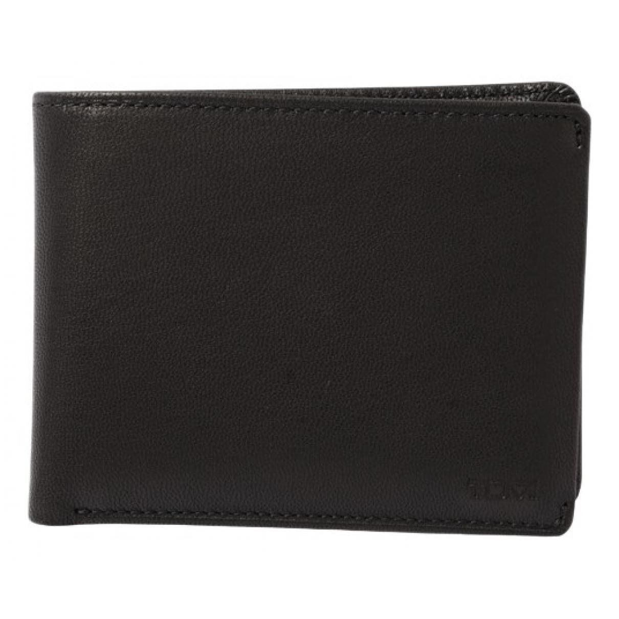 Tumi - Portefeuille   pour femme en cuir - noir