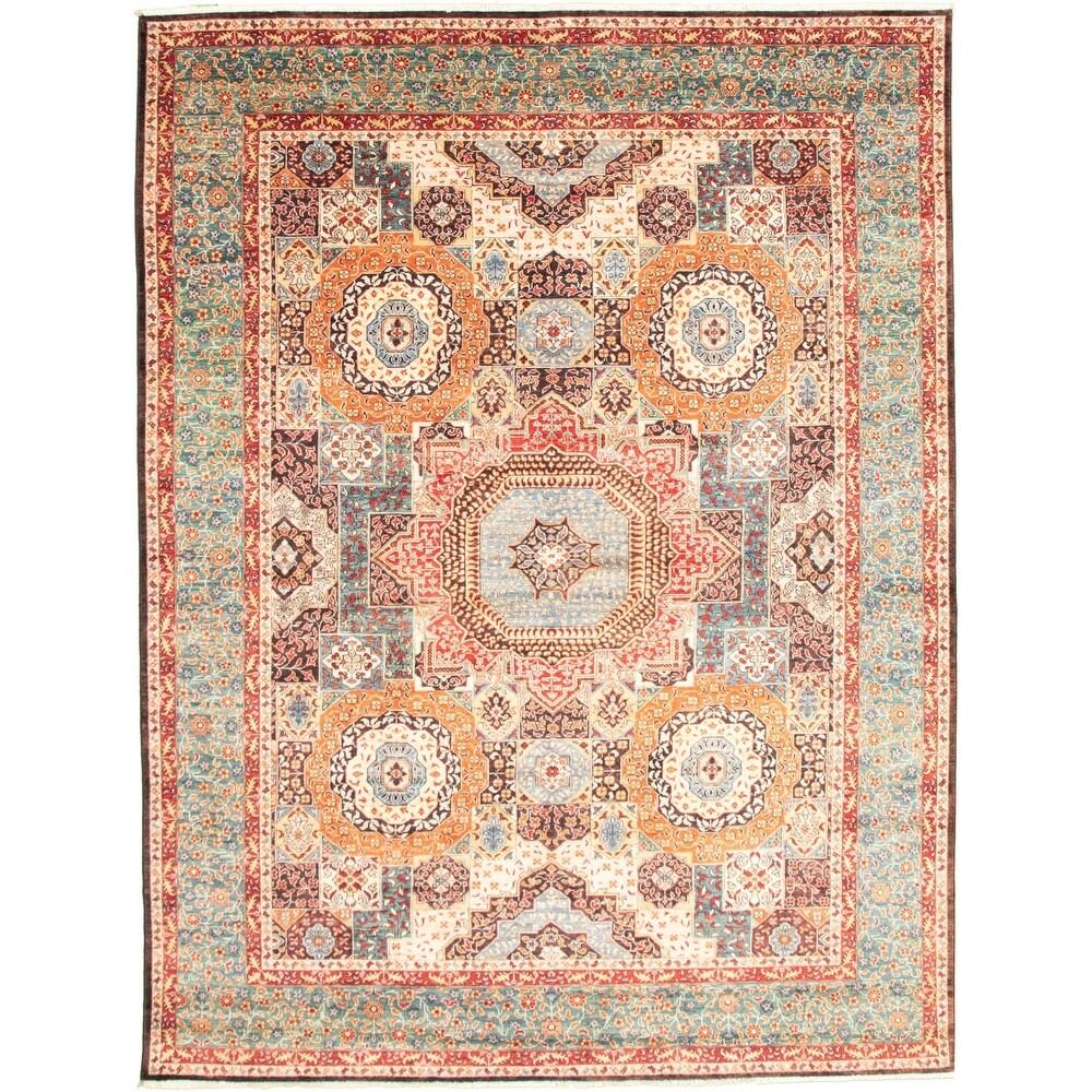 ECARPETGALLERY  Hand-knotted Peshawar Finest Ottoman Brown Wool Rug - 8'7 x 11'7 (8'7 x 11'7 - Copper/ Dark Brown)