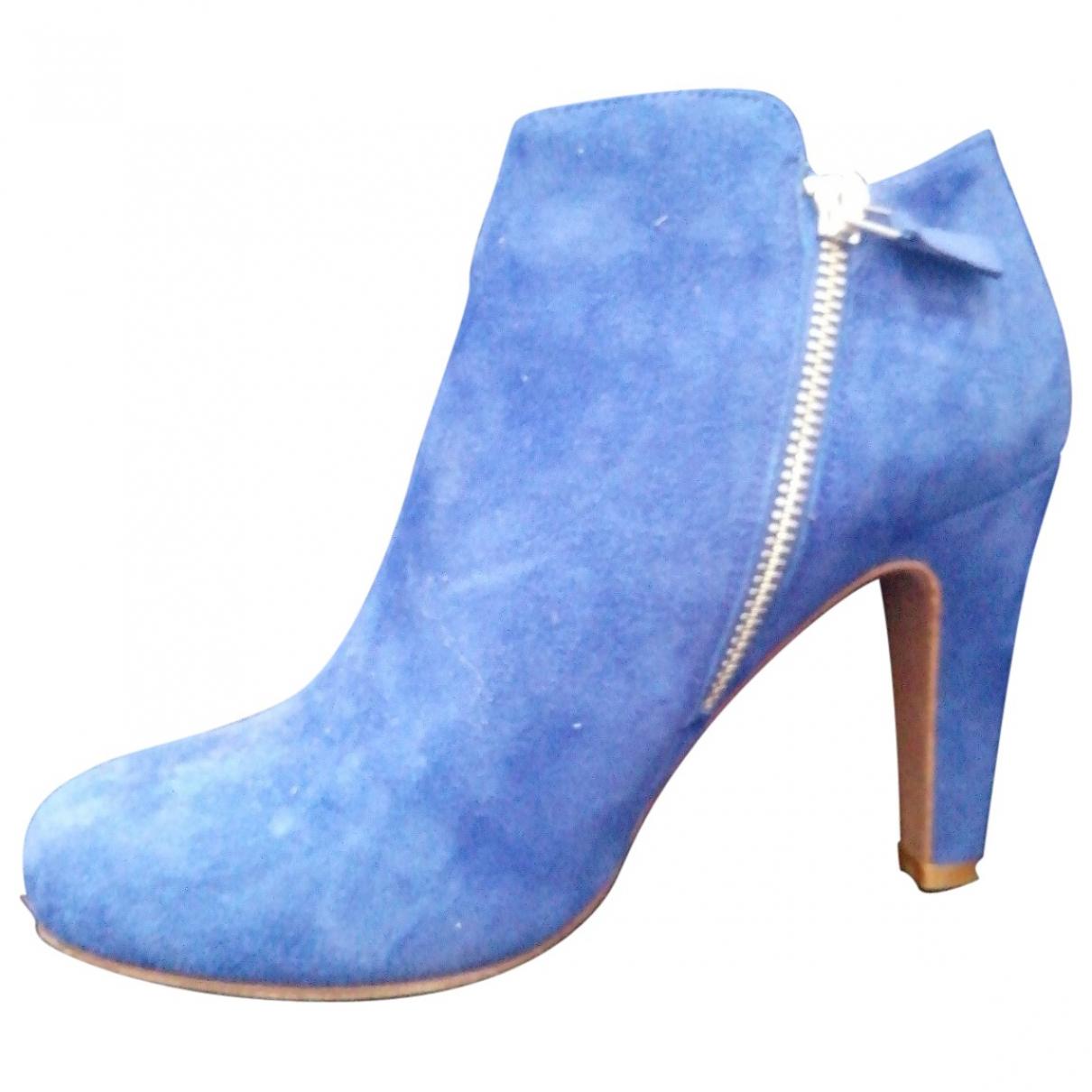 See By Chloe - Boots   pour femme en suede - bleu