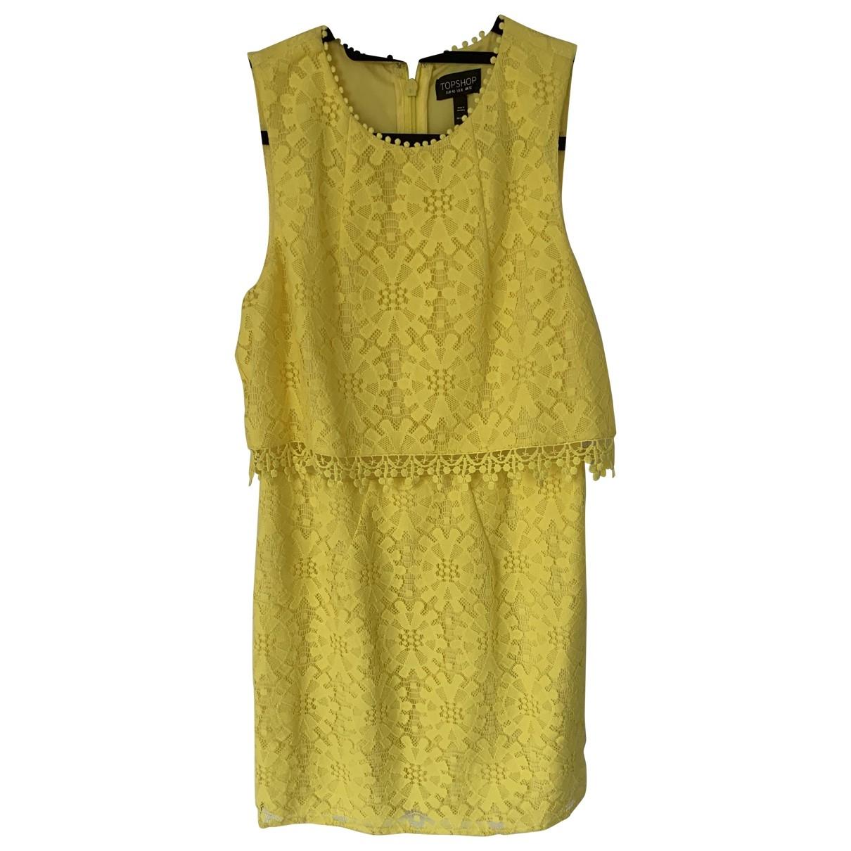 Tophop \N Kleid in  Gelb Polyester