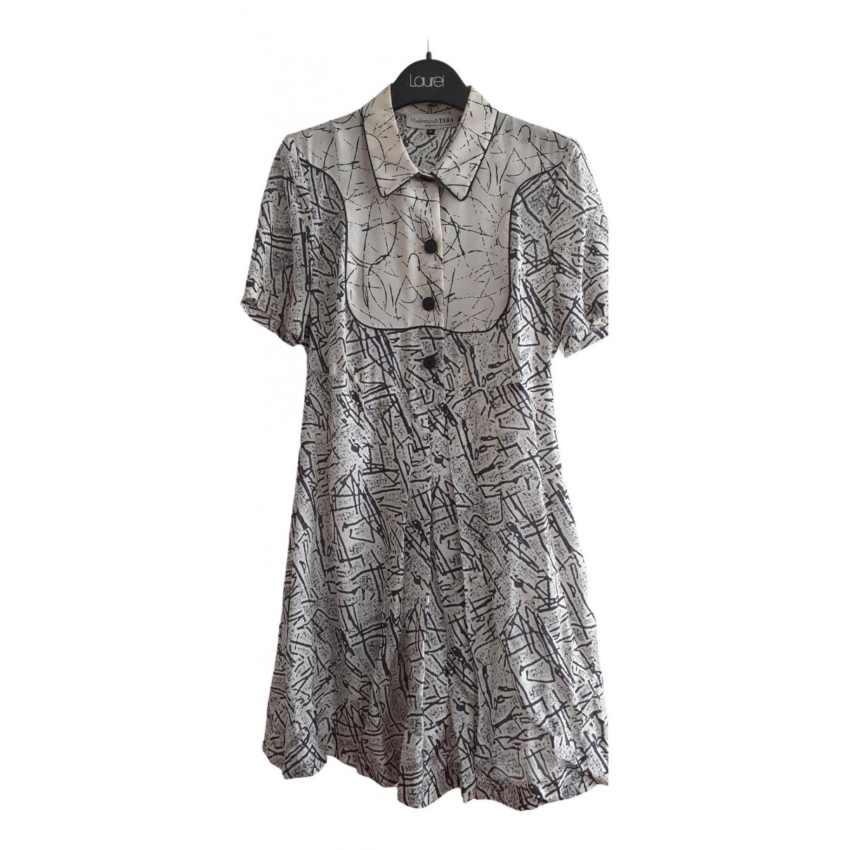 Tara Jarmon - Robe   pour femme en soie - ecru