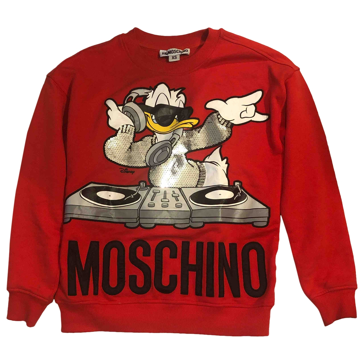 Moschino For H&m - Pull   pour femme en coton - rouge