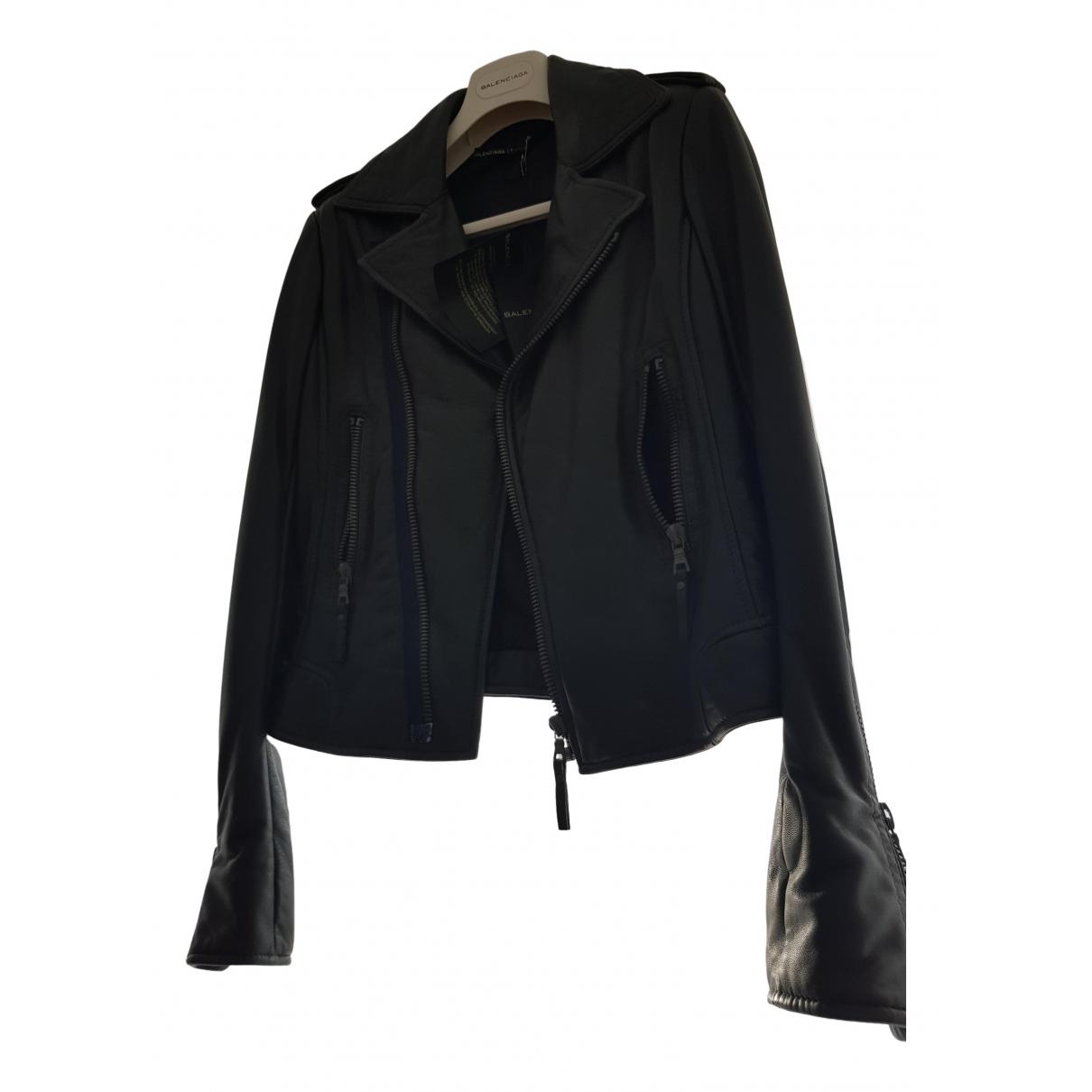 Balenciaga - Blouson   pour femme en cuir - gris