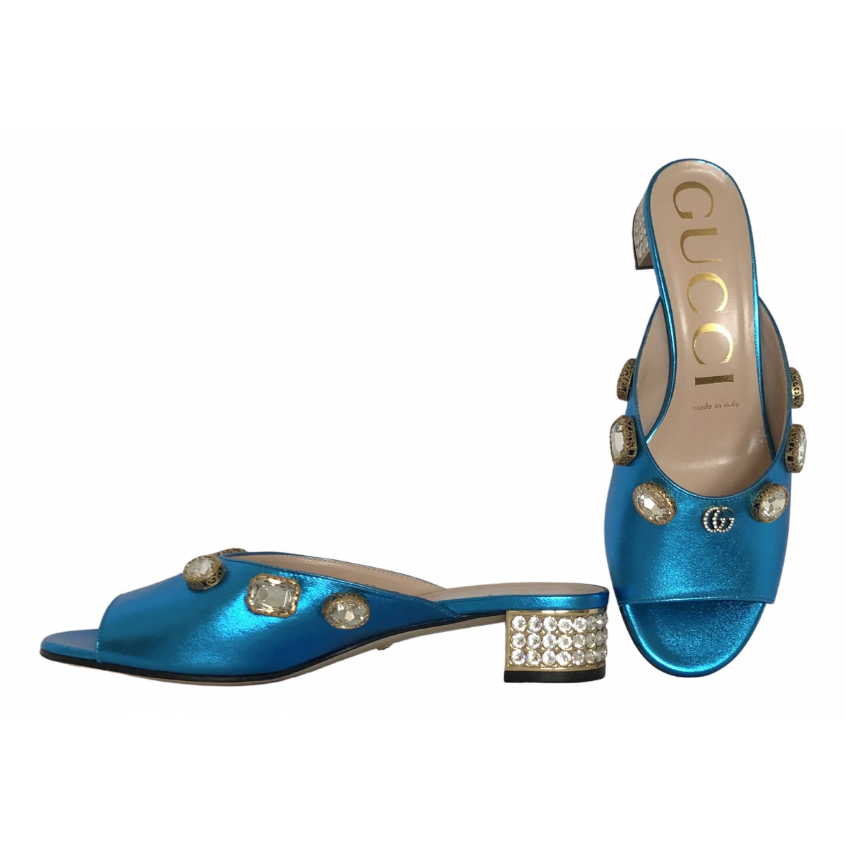 Gucci \N Turquoise Leather Sandals for Women 37 EU