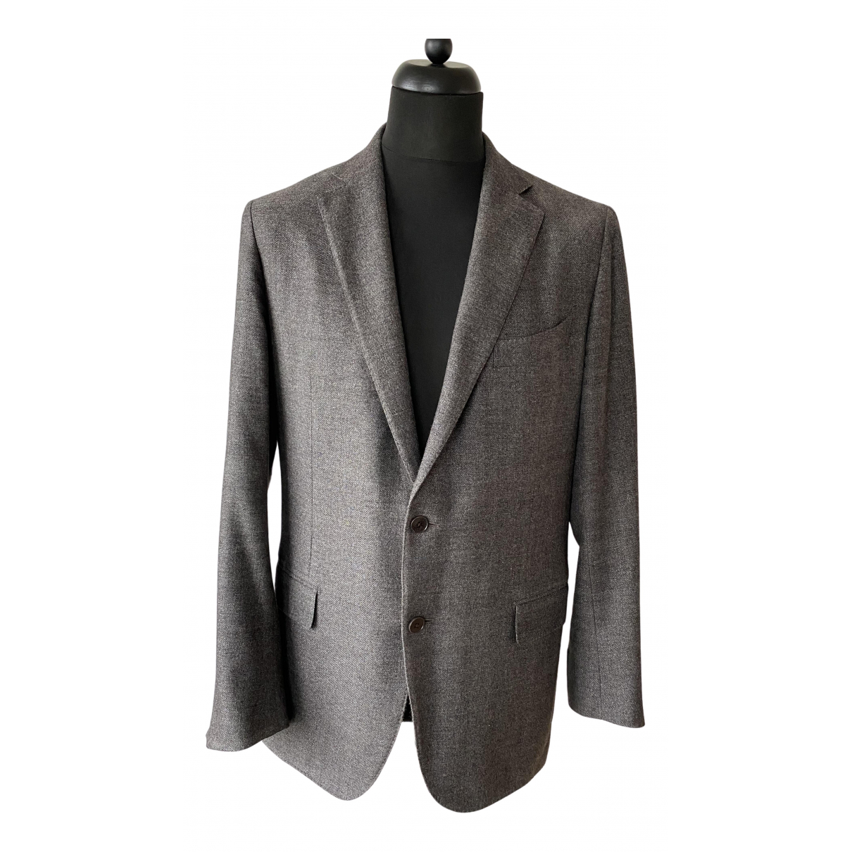 Ermenegildo Zegna \N Jacke in  Grau Wolle