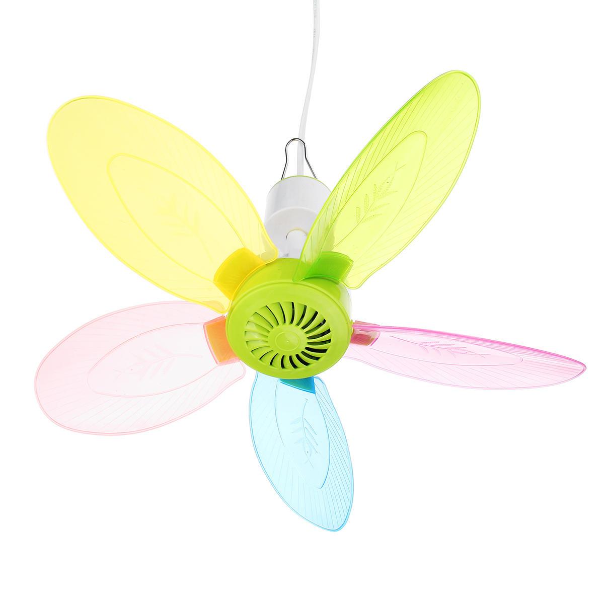 9W Colofful Silent Mini Portable Ceiling Fans Mosquito Net Electric Fan