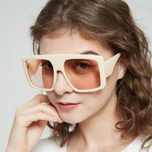 Gafas de sol superior plano con montura cuadrada