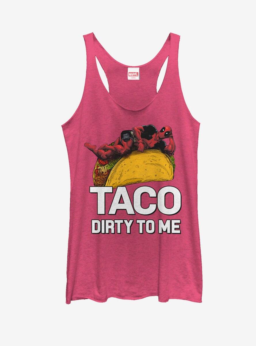 Marvel Deadpool Taco Dirty to Me Womens Tank Top