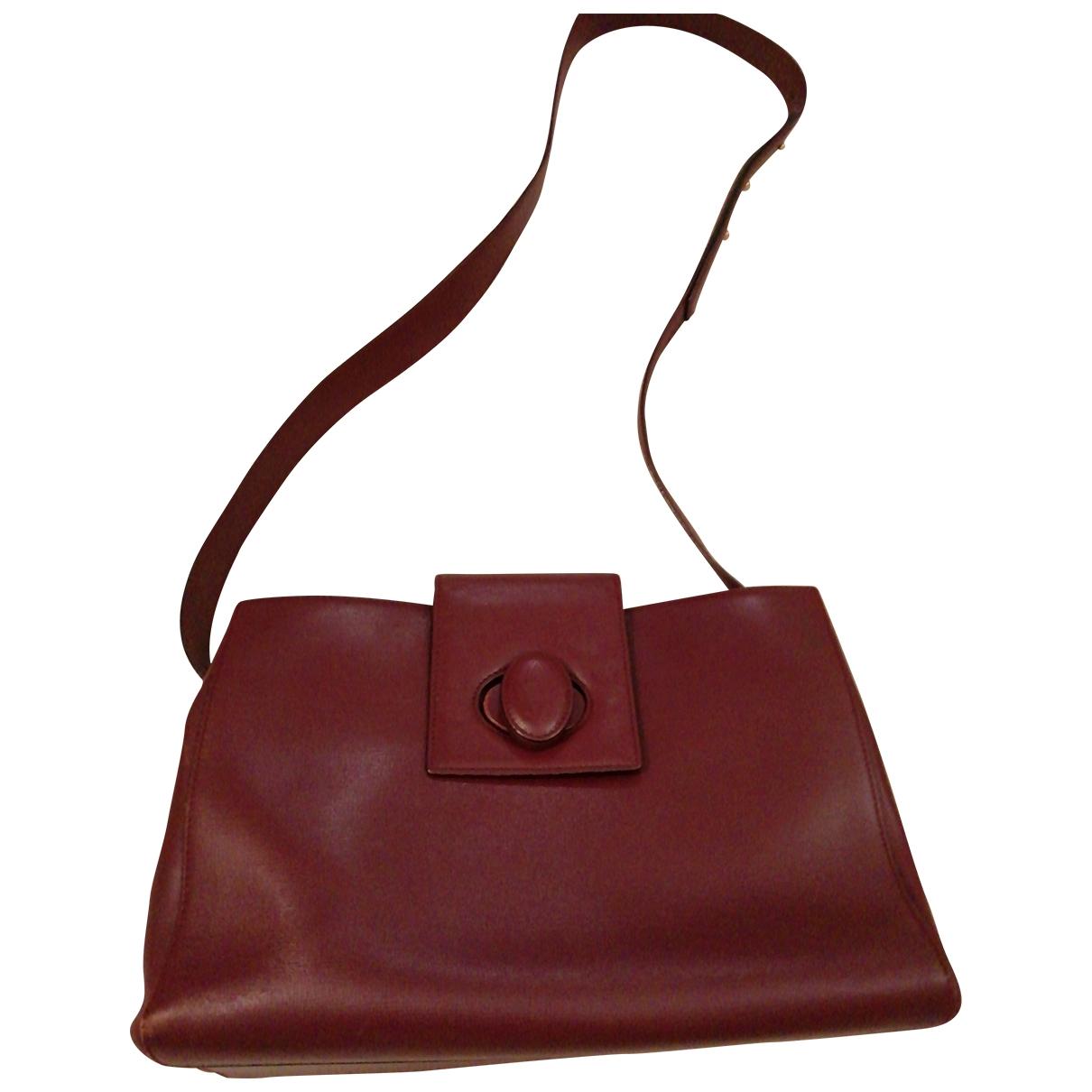 Cartier - Sac a main C pour femme en cuir - bordeaux