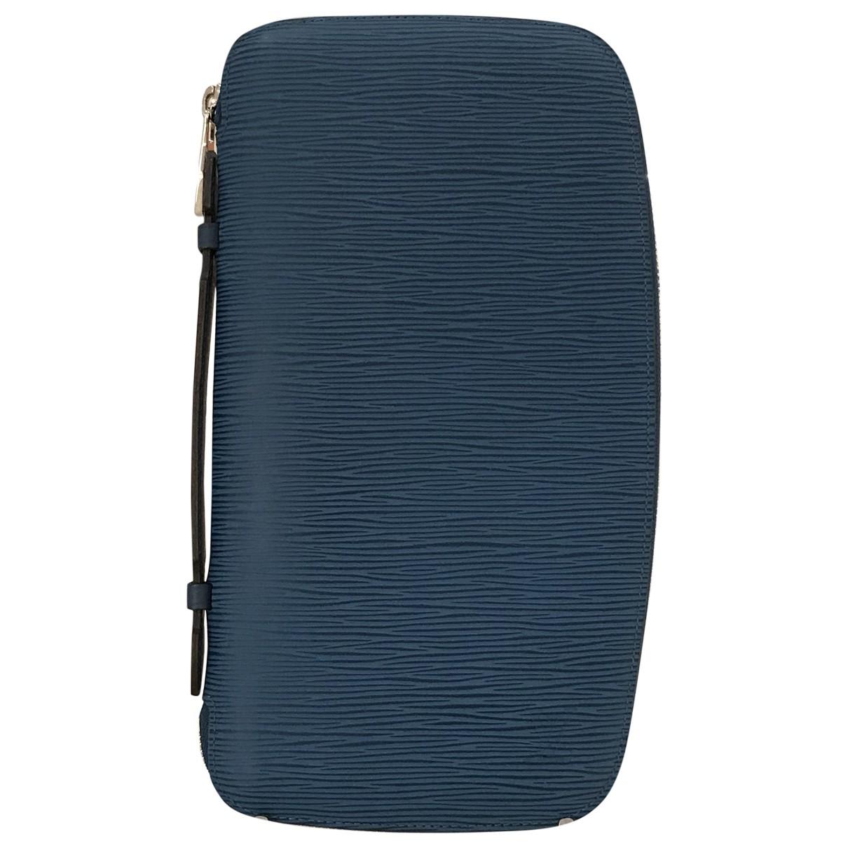 Louis Vuitton - Petite maroquinerie   pour homme en cuir - bleu