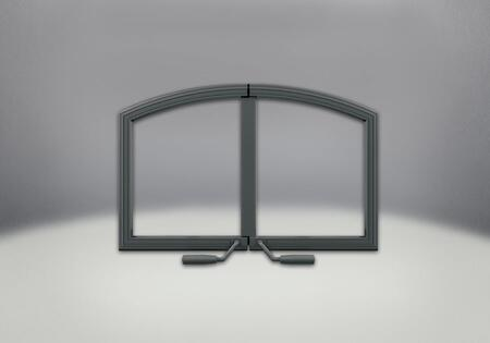 H336H-WI Arched Wrought Iron Double